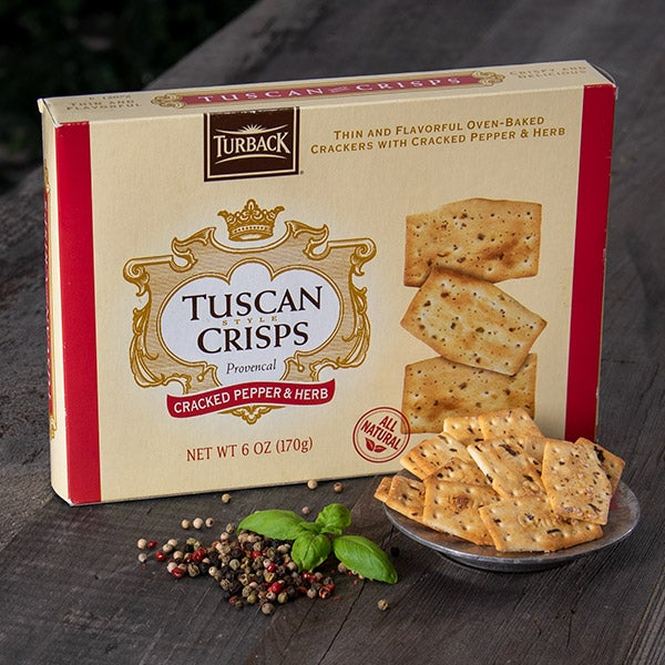 Cracked Pepper & Herb Tuscan Crisps by Turback - 6 oz. -