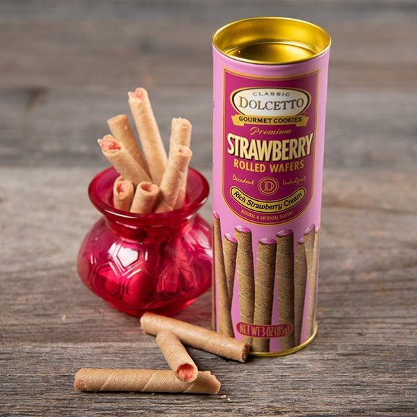 Strawberry Wafer Rolls by Fusion Gourmet - 3 oz. -