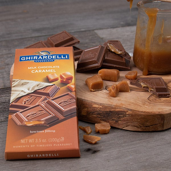 Caramel filled Milk Chocolate Bar by Ghirardelli - 3.5 oz. -