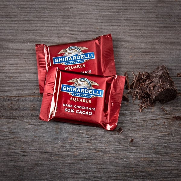 Single Dark Chocolate Square by Ghirardelli - .375 oz. -