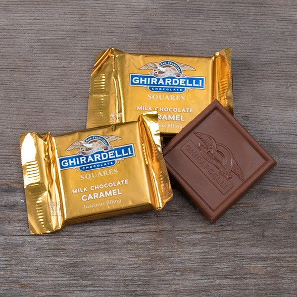 Single Milk Chocolate Caramel filled Square by Ghirardelli - .53 oz. -