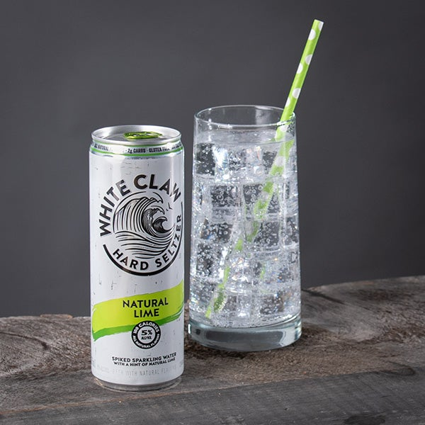 Hard Seltzer Natural Lime by White Claw - 12 oz. -  CAN