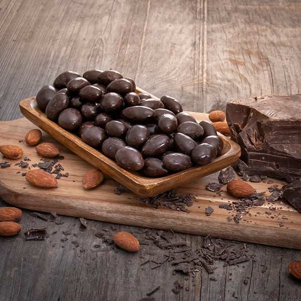 Dark Chocolate Almonds by GourmetGiftBaskets.com - 6 oz. -