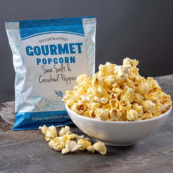 Sea Salt & Cracked Pepper Kettlecorn by GourmetGiftBaskets.com - 1.3 oz. -