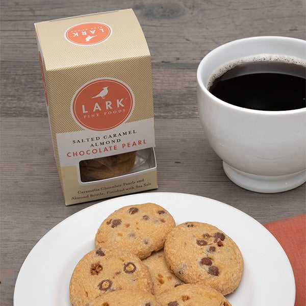 Salted Caramel Almond Chocolate Pearl Cookies by Lark Fine Foods - 3.2 oz. -