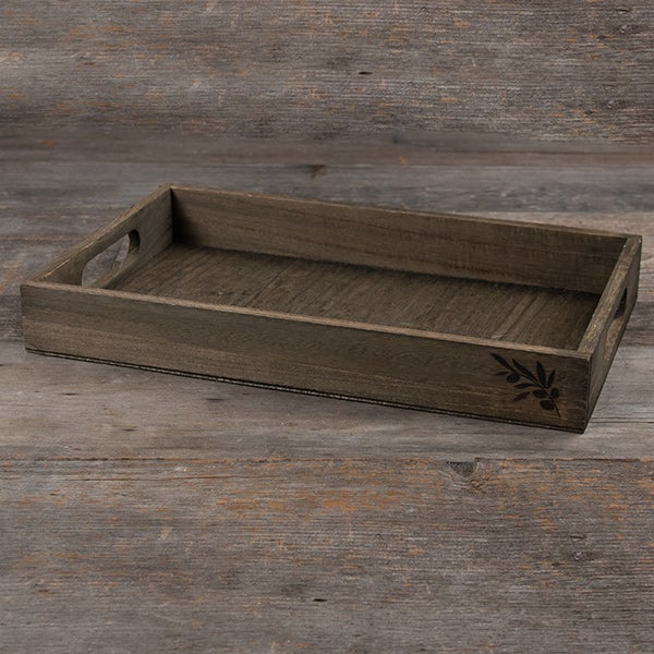 Wooden Crate with Hand Holes - 14.75 x 8.75