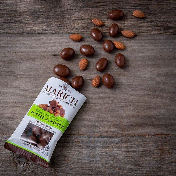 Chocolate Toffee Almonds by Marich - 2.3 oz. -