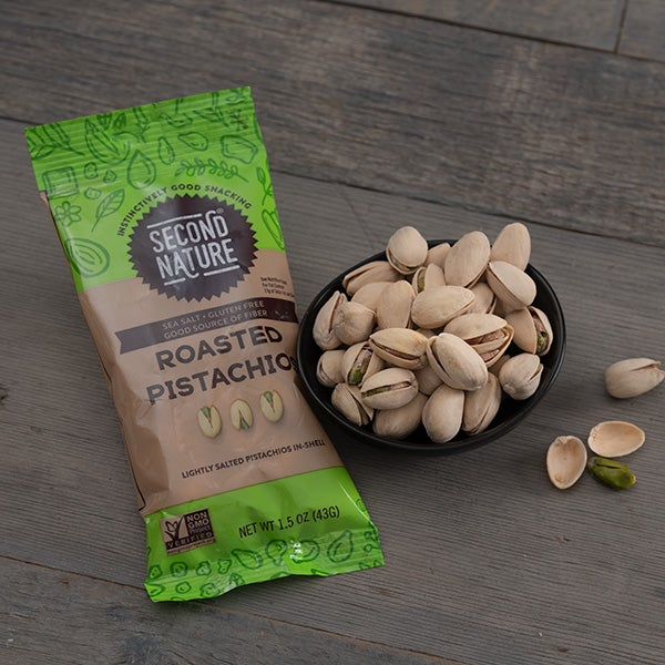 Roasted Pistachios by Second Nature - 1.5 oz. -