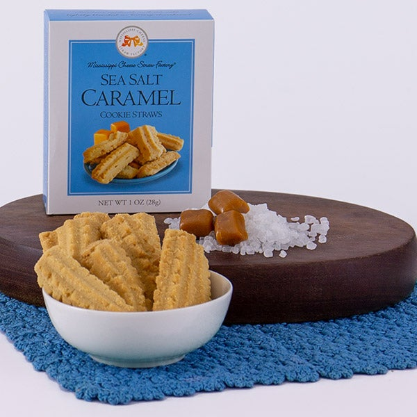 Sea Salt Caramel Cookie Straws by Mississippi Cheese Straw Factory - 1 oz. -