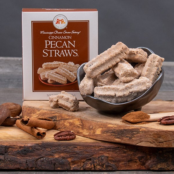 Cinnamon Pecan Straws by Mississippi Cheese Straw Factory - 1 oz. -