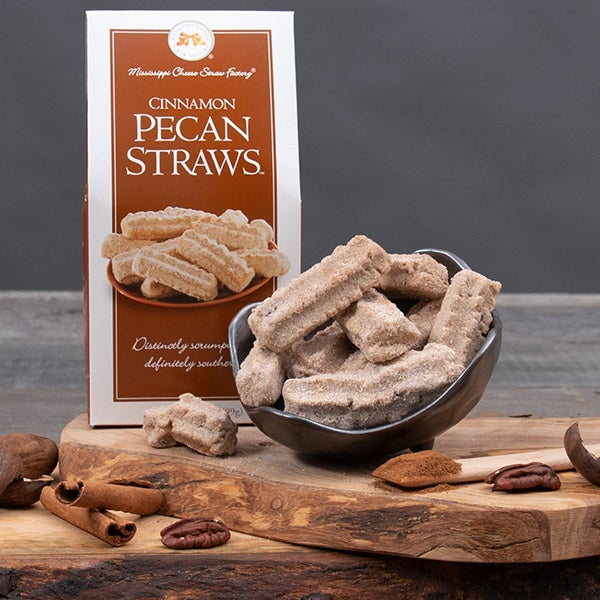 Cinnamon Pecan Straws by Mississippi Cheese Straw Factory - 3.5 oz. -