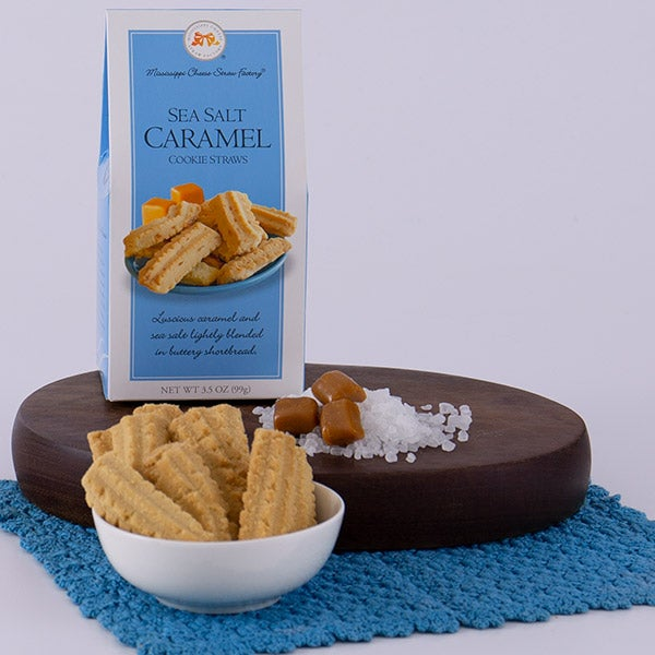 Sea Salt Caramel Cookie Straws by Mississippi Cheese Straw Factory - 3.5 oz. -