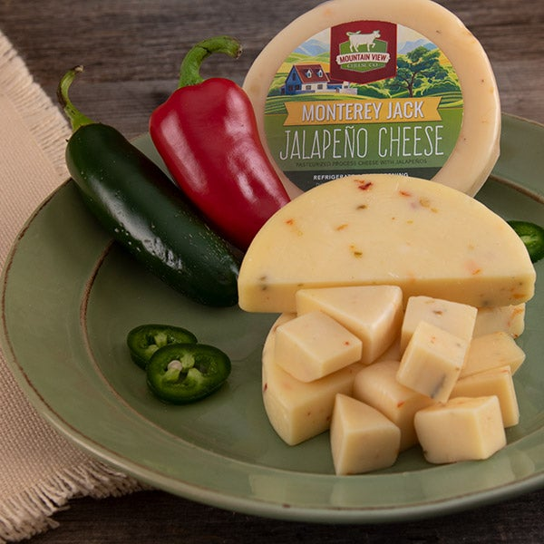Monterey Jack Jalapeno Cheese(Round) by Mountain View Cheese Co. - 4 oz. -
