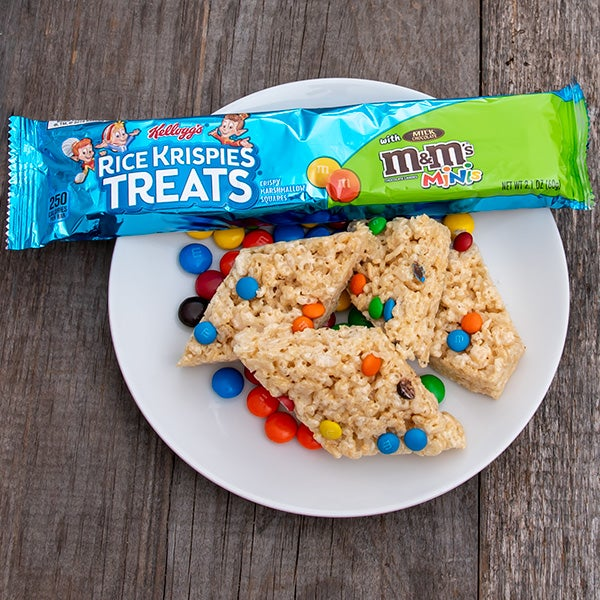 Blasted with M&Ms - Rice Krispies Treats Bar by Kelloggs - 2.1 oz.