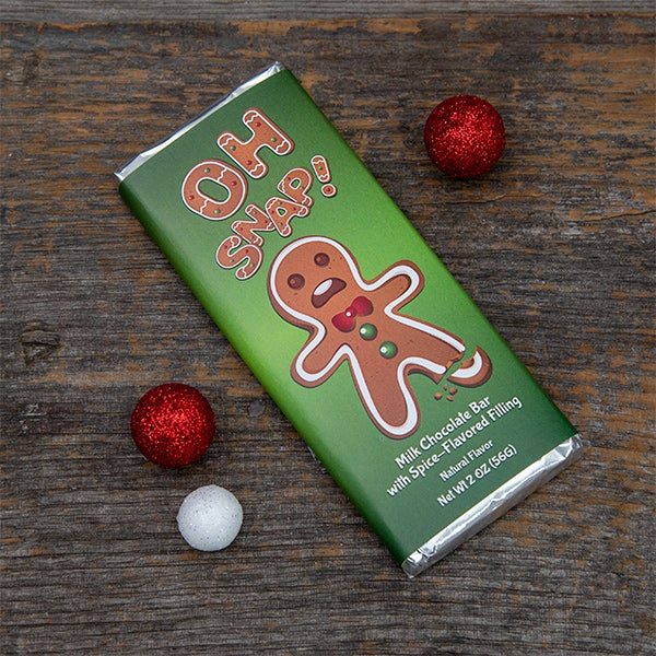 Oh Snap! Milk Chocolate Gingerbread Bar by Amusemints - 2 oz. -