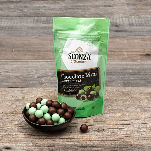 Chocolate Mint Cookie Bites by Sconza - 2.82 oz. -