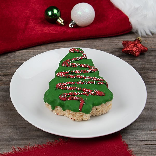Christmas Tree Crispy Treat by Selma's Cookie Company -