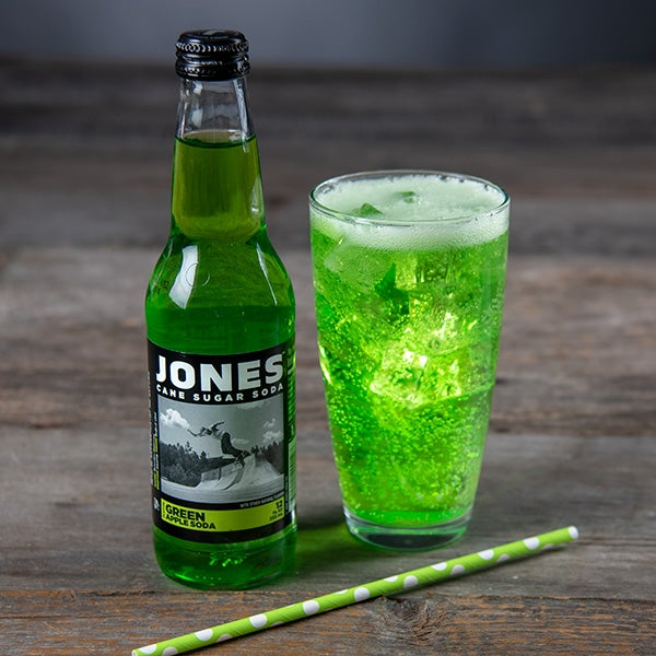 Green Apple Soda by Jones Soda - 12 oz. - BOTTLE -