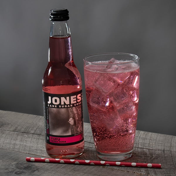 Fufu Berry Soda by Jones Soda - 12 oz. - BOTTLE -