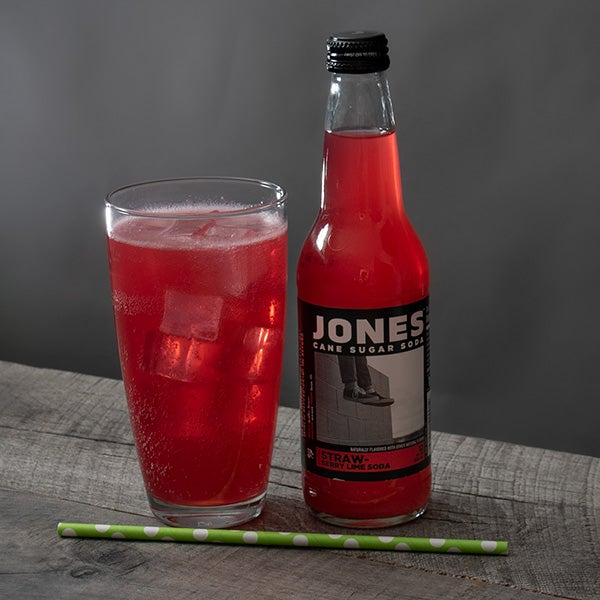 Strawberry Lime Soda by Jones Soda - 12 oz. - BOTTLE -