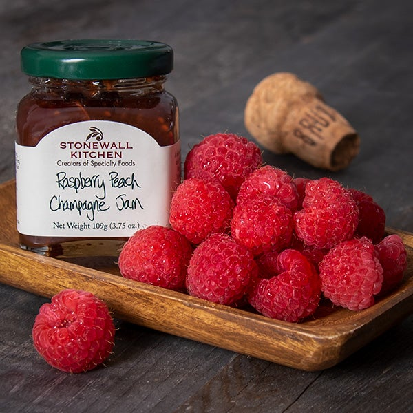 Raspberry Peach Champagne Jam by Stonewall Kitchen - 3.75 oz. -
