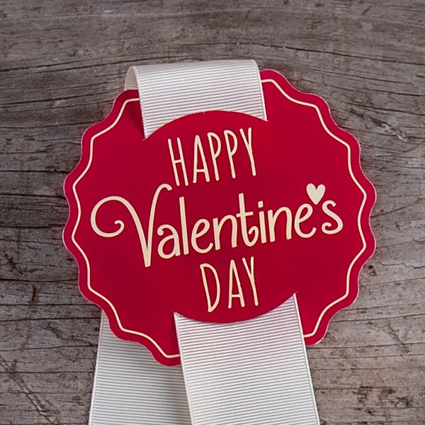 Valentine's Day Hang Tag - to add to Ribbon (RED)