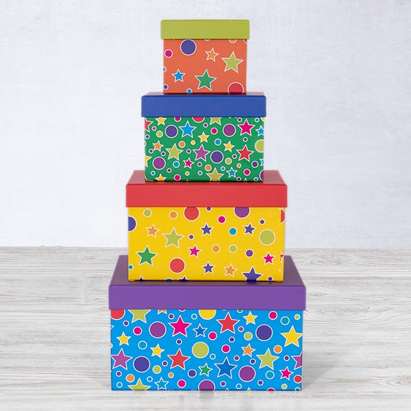 Celebration Tower with Stars and Circles     $3.40