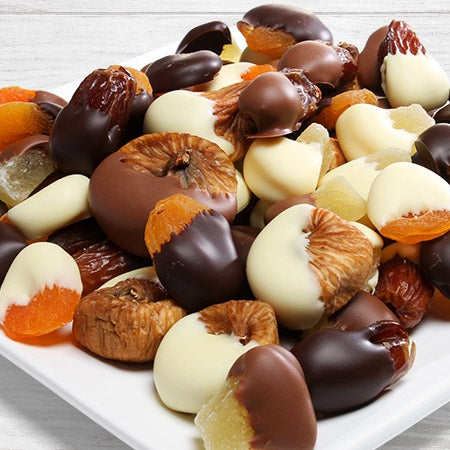 Chocolate Covered Dried Fruit Assortment By
