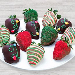 Christmas Lights Chocolate Covered Strawberries 9288