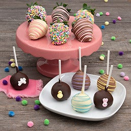 Happy Easter Cake Pops & Berries 9157