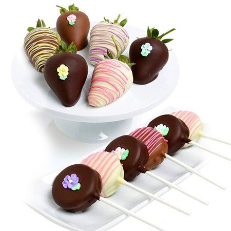 Spring Blooms Berries & Oreo Pops