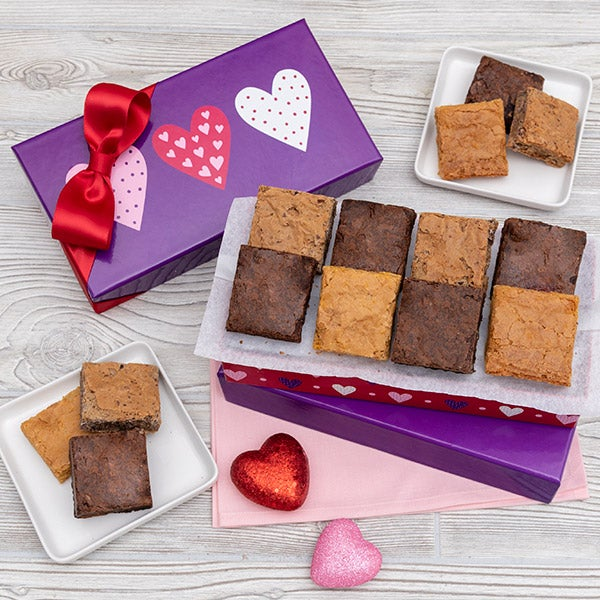 valentines day brownie gift box