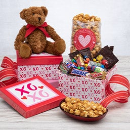 Valentine's Day Gift Basket - Hugs & Kisses