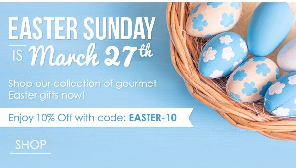 Enjoy 10% off with code: EASTER-10