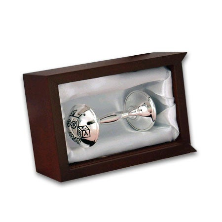 Silver Rattle in Rosewood Box