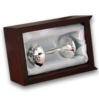 Silver Rattle in Rosewood Box (6326)