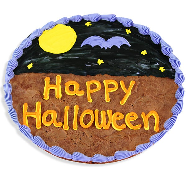 Happy Halloween Brownie Cake