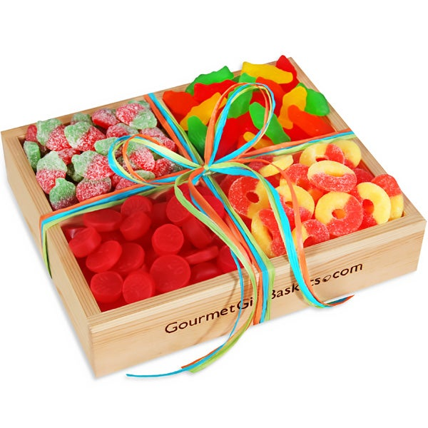 Chocolate Gift Baskets: Classic Candy Gift Crate By GourmetGiftBaskets.com