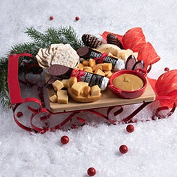 gourmet holiday sleigh christmas gift basket retired