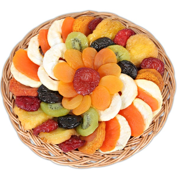 dried fruit healthy fruit plate