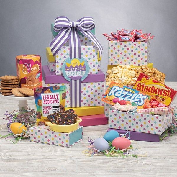 International Happy Easter Gift Tower