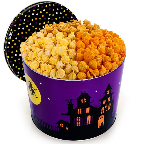Haunted House Popcorn Tin