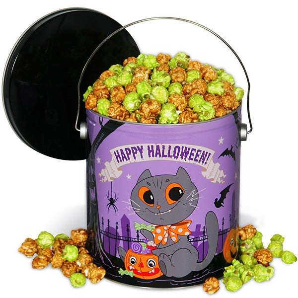Halloween Popcorn Tin - Caramel Apple