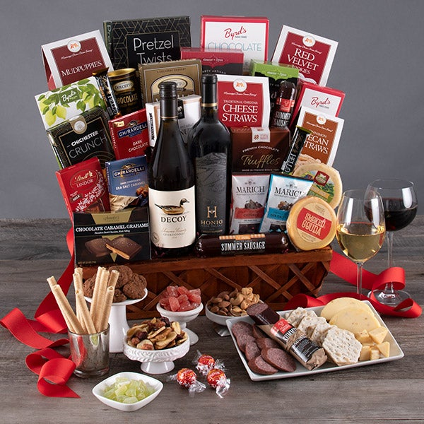 Vineyard Tour Trio Wine Gift Basket By Gourmetgiftbaskets Com