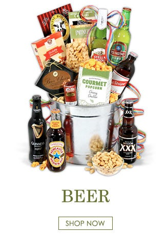beer buckets and gift baskets