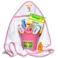 Baby Girl's Bath Time™ Gift Basket (6355)