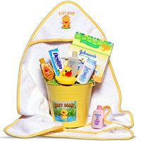 Baby's Bath Time Yellow - Gift Basket (6356)