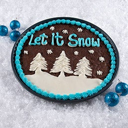 Let It Snow Brownie Cake (8883)
