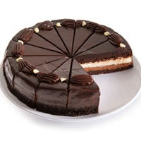 White & Dark Chocolate Mousse Cake