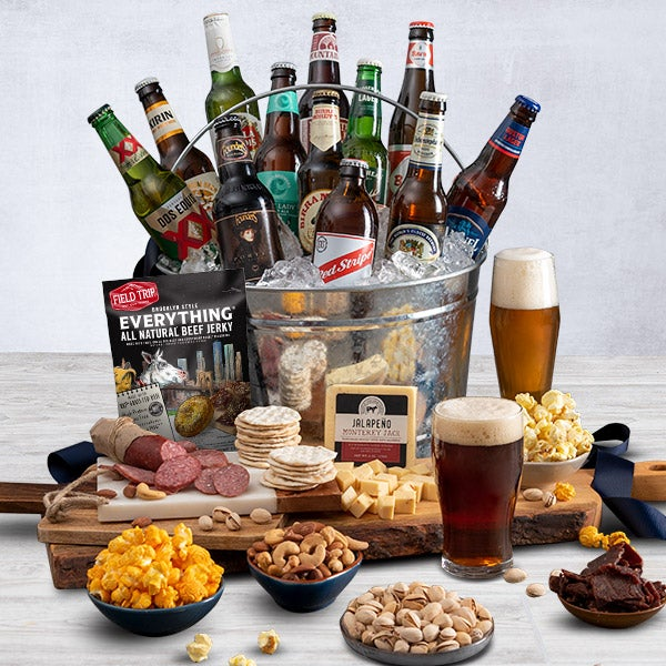 Alcohol Gift Basket With Beer